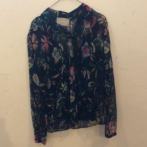 Jason Wu print crinkle chiffon blouse